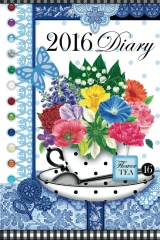 2016 Diary with Birth Flowers and Gems