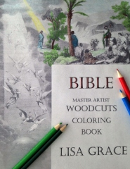 Bible Master Artist Woodcuts Coloring Book for Adults #1 by Lisa Grace