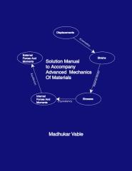 Solution Manual To Accompany Advanced  Mechanics  Of Materials