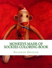 Monkeys Made of Sockies Coloring Book
