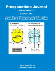Prespacetime Journal Volume 6 Issue 12