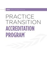 Practice Transition Accreditation Program 2016 Application Manual