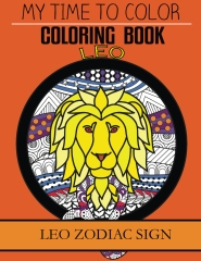 Leo Zodiac Sign - Adult Coloring Book