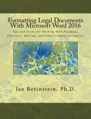 Formatting Legal Documents With Microsoft Word 2016