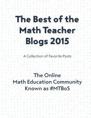 The Best of the Math Teacher Blogs 2015