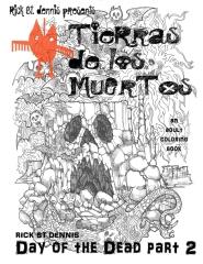 Tierras de los Muertos - an adult coloring book