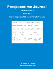 Prespacetime Journal Volume 7 Issue 4