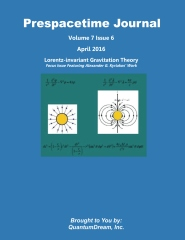 Prespacetime Journal Volume 7 Issue 6