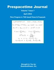 Prespacetime Journal Volume 7 Issue 7