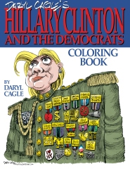 Daryl Cagle's HILLARY CLINTON and the Democrats Coloring Book!