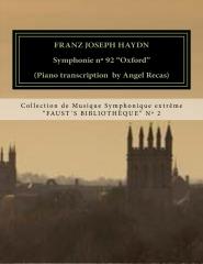 "Haydn Symphonie nº 92 ""Oxford"" (piano transcription by Angel Recas)"
