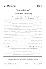 TCR Singles 26-4 Insanity Defense