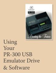 Using Your PR-300 USB Emulator & Software