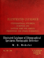 W.D. Webster Illustrated Catalogue of Ethnographical Specimens 18 - 31