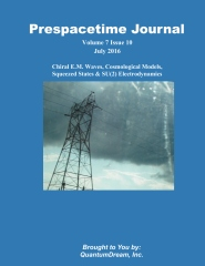 Prespacetime Journal Volume 7 Issue 10