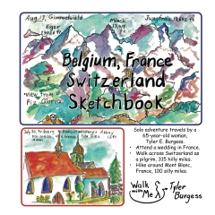 Belgium, France, Switzerland trip; a Sketchbook Diary 2016