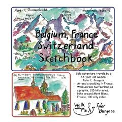 Belgium, France, Switzerland trip; a Sketchbook Diary 2016