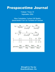 Prespacetime Journal Volume 7 Issue 12