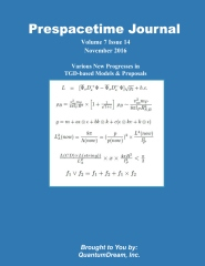 Prespacetime Journal Volume 7 Issue 14