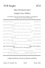 TCR Singles 27-2 Mary Woodard Lasker