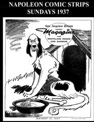 Napoleon Comic Strips Sundays 1937 (B&W)