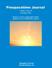 Prespacetime Journal Volume 7 Issue 15