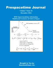 Prespacetime Journal Volume 7 Issue 16