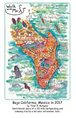Baja California, Mexico Sketchbook Diary 2017