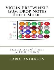 Violin Pretwinkle Gum Drop Notes Sheet Music
