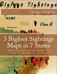 3 Bigfoot Sightings Maps in 7 States