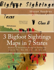 3 Bigfoot Sightings Maps in 7 States