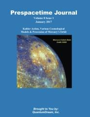 Prespacetime Journal Volume 8 Issue 1