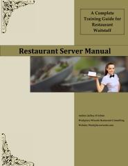 Restaurant Server Manual