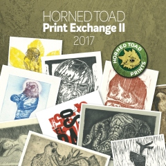 Horned Toad Print Exchange II 2017