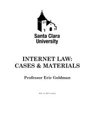 Internet Law: Cases & Materials