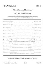 TCR Singles 28-1 North Korean Theocracy