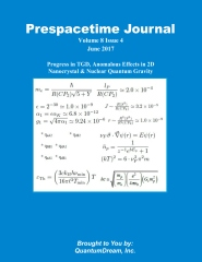 Prespacetime Journal Volume 8 Issue 6