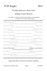 TCR Singles 28-1 Pre-Revolutionary Debt Crisis